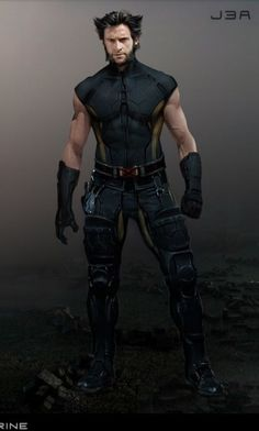 "Concept art of Wolverine from ""X-Men: Days of Future Past"" Marvel Wolverine, Wolverine Costume, Logan Wolverine, Marvel Dc Comics, Marvel Heroes, Comic Book Characters, Marvel Characters, Comic Character, Super Marvel"