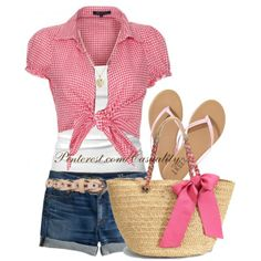 """Tied T-Shirt Country Chic"" by casuality on Polyvore"