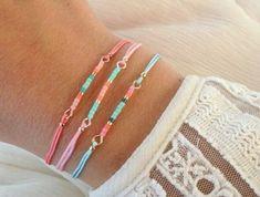 Make bracelets yourself - not difficult, but pleasant - Diy schmuck - Diy Jewelry Unique, Diy Jewelry To Sell, Diy Jewelry Making, Bracelet Making, Diy Bracelets And Anklets, Diy Beaded Bracelets, Gold Heart Bracelet, Tassel Bracelet, Armband Diy