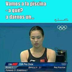 #rio2016 #natacion #lol #humor #risa
