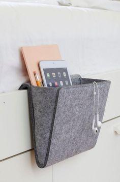 Kikkerland Bedside Pocket NEU/OVP Bettablage Nacht Tasche Ablagebox NEW/OVP Felt