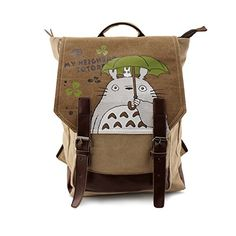 Japanese My Neighbor Totoro Student Book Bag Cosplay Cartoon Rucksack  Backpack For 14