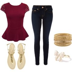 Cool outfit for an edgy senior girl.