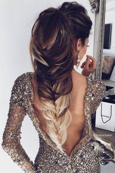 Ulyana Aster Long Wedding Hairstyles & Updos 8 / http://www.deerpearlflowers.com/romantic-bridal-wedding-hairstyles/3/