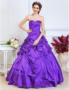 baljurk sweetheart vloer-lengte taft avond / prom dress - EUR € 164.99