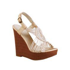 Womens Mia Blanco Wedge - Cream - $44.99