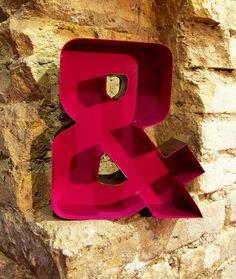 Retro style letter & iron sheet welded by Neighbourhook on Etsy, €100.00