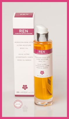 NEED  this I'm my life!  Ren Skincare - Rose Body Oil, ultimate moisture for the body!  http://www.cherrycloud.co.uk