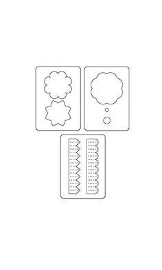 Amazon.com: Sizzix Sizzlits Die Set 3PK - Accordion Fold Flowers Set by Scrappy…