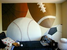 Big Sports Ball Mural - perfect for my little mans room