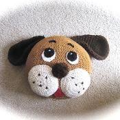 Crochet Puppy Pillow - via @Craftsy