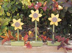 Standing sunflowers