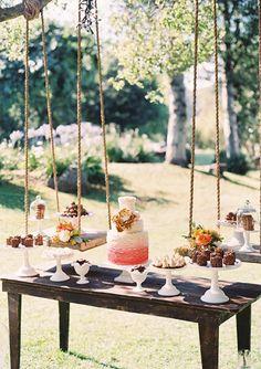 Such a delightful dessert table.