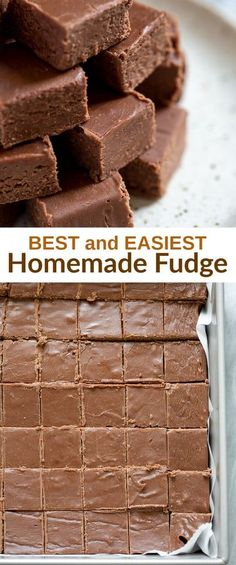 Thick and creamy, perfect Chocolate Fudge is one of my favorite easy holiday treats! This homemade fudge also makes a great homemade holiday gift! easy oldfashioned recipe fudge tastesbetterfromscratch candy chocolate christmas via Perfe Homemade Fudge, Homemade Candies, Homemade Candy Recipes, Homemade Sweets, Homemade Chocolate, Christmas Desserts, Holiday Treats, Christmas Parties, Christmas Chocolate