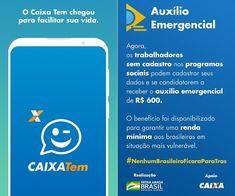 Aplicativo CAIXA Tem App, Logos, Sms Message, Apps, Logo