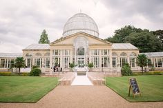 Syon Park Wedding Venue, Outdoors, Greenhouse, Daylight, Stunning. Summer. Photography by www.roseimages.co.uk