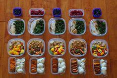 Amanda Meixner's weekly meal prep