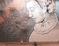 HIstoria Food and Bar's mural