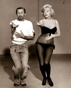 Marylin Monroe with Dancing Instructor - 1950's United Press International