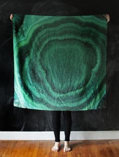 // MALACHITE SILK SCARF