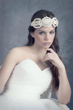 Weddding floral headpiece. Orange blossom headpiece. Bridal headpiece. Bridal headpiece blossom. Bridal headband. MOD553 bridal Crown
