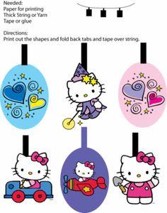 FREE printable hello kitty garland bunting decoration // A bunch of free hello kitty printables