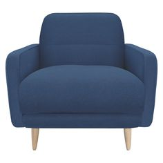 ABEL Blue fabric armchair