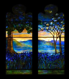 Tiffany memorial window by Captain Tenneal Stained Glass Designs, Stained Glass Patterns, Stained Glass Art, Stained Glass Windows, Louis Comfort Tiffany, Tiffany Stained Glass, Tiffany Glass, Art Nouveau, Leaded Glass