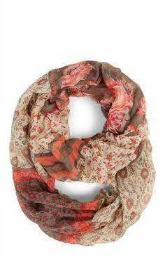 Deb Shops #Floral Print #Infinity Scarf $14