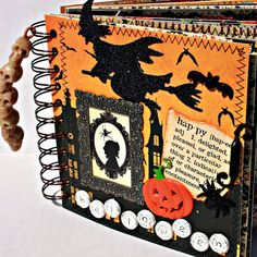WITCHING HOUR  Halloween  AZ Scrapbook Album by Papersilly on Etsy, $42.00