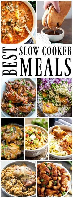 50 OF THE BEST SLOW COOKER MEALS has all of your favorites covered. From pasta to soups, steak to chicken, quinoa to tacos & everything in between. #SlowCooker #crockpot #slowcookerrecipes #crockpotrecipes #easydinner #recipes