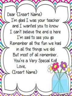 End of Year Letter to Parents, Sentimental Letter To Students, Letter To Teacher, Letter To Parents, Teacher Notes, Parent Letters, Teacher Stuff, Teacher End Of Year, End Of School Year, Pre School