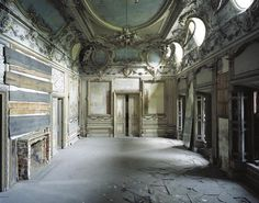Krowiarki Palace, Poland. Shuttered for 40 years, supposedly being restored.