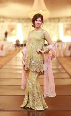 Dress to the occasion, Look elegantly stylish at the next event / / you are attending or customise the design for Mizz Noor a palace for high quality with intricate Inbox for more details Pakistani Fancy Dresses, Bridal Mehndi Dresses, Pakistani Fashion Party Wear, Pakistani Wedding Outfits, Wedding Dresses For Girls, Party Wear Dresses, Pakistani Gharara, Walima, Sharara