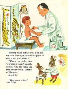 Tommy Goes to the Doctor book - Shots by 4 Color Cowboy, via Flickr