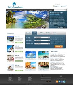 this website layout design for demo template for online education ...