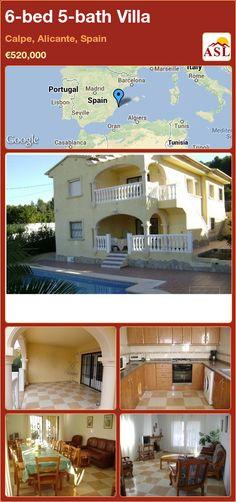 6-bed 5-bath Villa in Calpe, Alicante, Spain ►€520,000 #PropertyForSaleInSpain