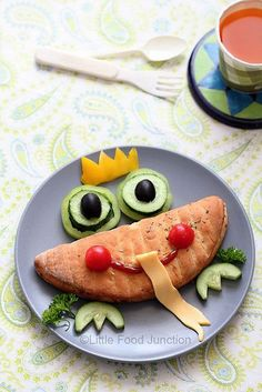 50+ Kids Food Art Lunches - Frog Prince