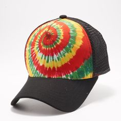 3d4ef87798f1e Buy Wholesale Blank Hats at Pit Bull Hats Online Shop. Pit Bull Rasta  Pattern Tie Dye Curved Visor Trucker Hats Caps Wholesale and Custom  Embroidery.