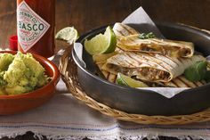 Dani Venn's beef, mushroom & cheese quesadillas with smashed avocado is a delicious twist on an old Mexican favorite.