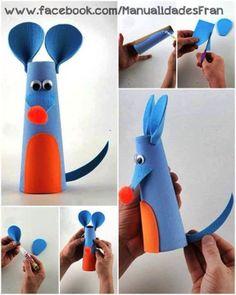 Ratón con papel higiénico