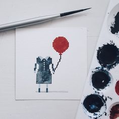Watercolor Pixel Art, a 2017 Inktober Artbook by Sai N — Kickstarter