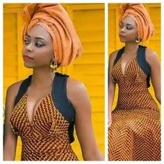 Fall Head Over Heels for These Show-Stopping Ankara Styles - Wedding Digest Naija African Dresses For Women, African Print Dresses, African Attire, African Wear, African Fashion Dresses, African Women, African Prints, African Style, African Inspired Fashion