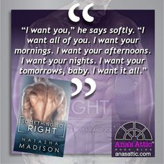Book – Audiobook Review – Something So Right by Natasha Madison | Ana's Attic Book Blog