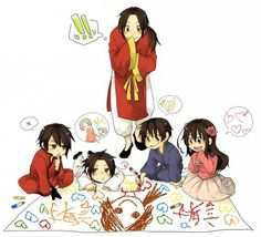 Hetalia (ヘタリア) - The Asian countries - China, Japan, Taiwan, South Korea, Hong Kong