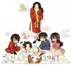 Drawing with the Asian countries. APH China, Hong Kong, Japan, Taiwan