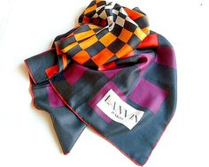 Authentic Vintage LANVIN Silk Scarf Lanvin scarf by CabArtVintage.