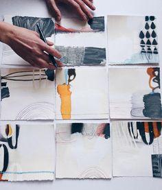 """""""New small pieces in progress..... Eva Magill Oliver"""