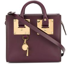 Sophie Hulme cross-body satchel (2.680 RON) ❤ liked on Polyvore featuring bags, handbags, cross body satchel purses, satchel bag, purple satchel handbag, crossbody bags and crossbody satchel