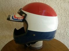 Vintage Motorcycle Helmets: Vintage Full Coverage Motocross Helmet